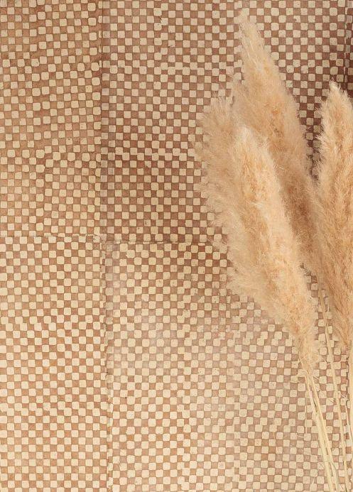 Carta da parati Le Monde Sauvage Carta da parati Locana marrone beige Visuale camera