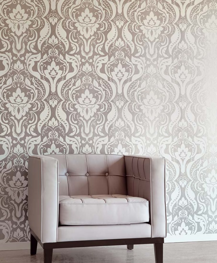 tapete sennin graualuminium grauweiss tapeten der 70er. Black Bedroom Furniture Sets. Home Design Ideas