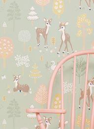 Wallpaper Golden woods pale green