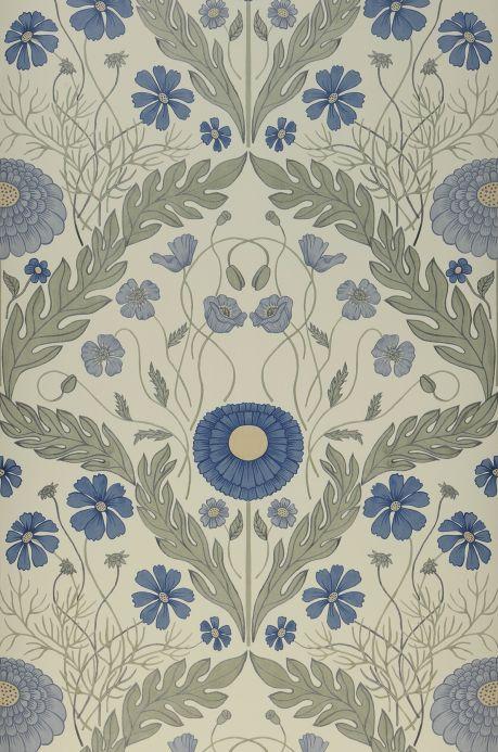 Papier peint classique Papier peint Lomasi bleu ciel Largeur de lé