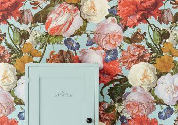 Papier peint Doriana turquoise pastel