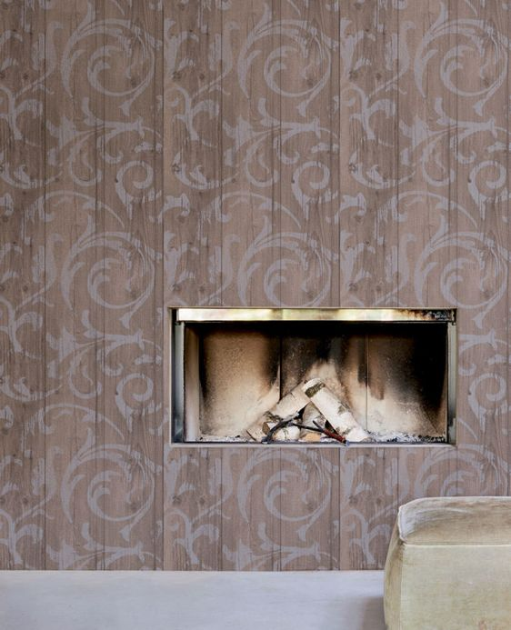 Archiv Wallpaper Medusa Wood grey brown Room View