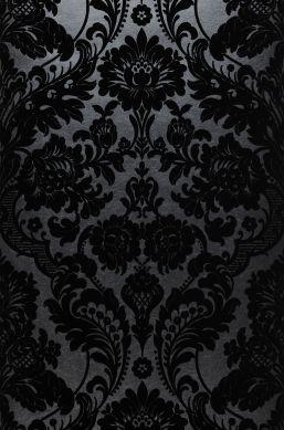 Wallpaper Okina black Bahnbreite