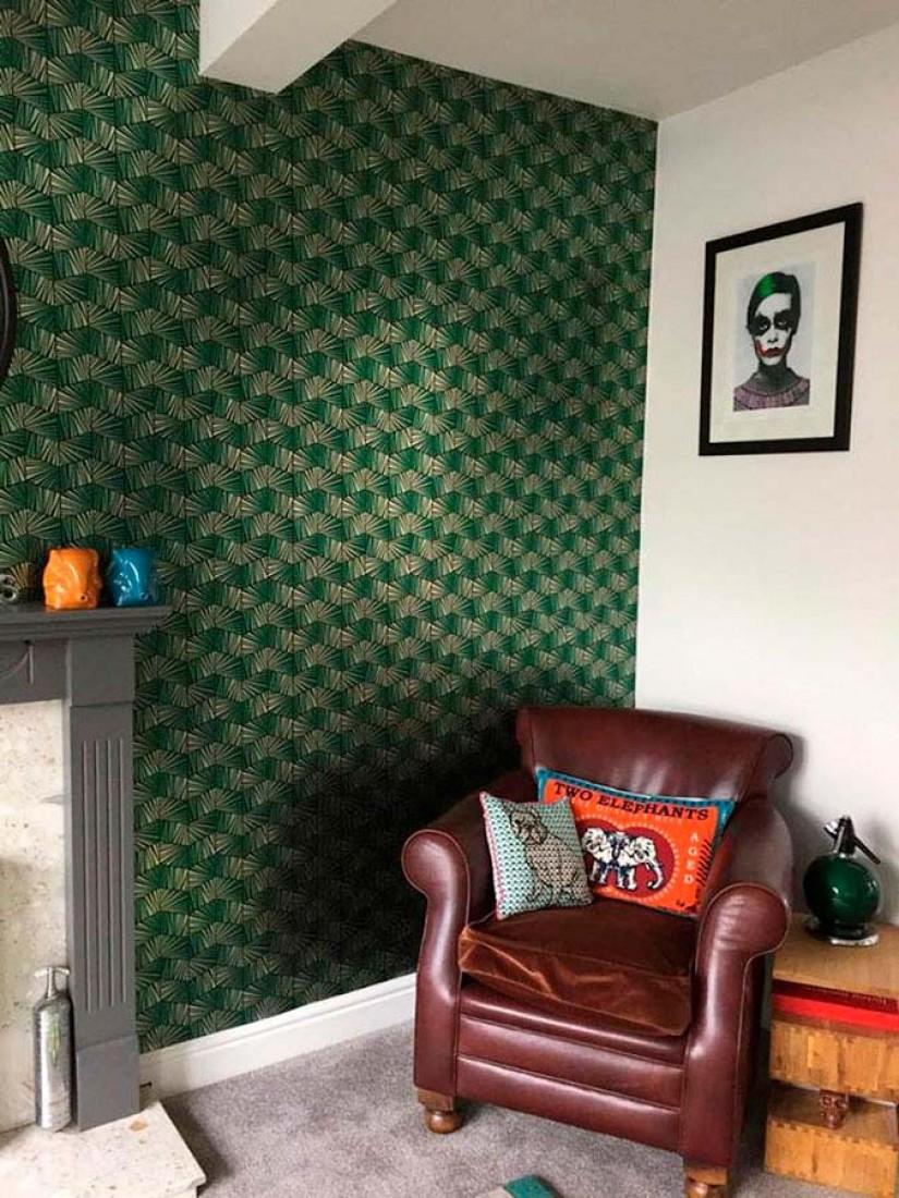 tapete gimog gold glanz schwarz smaragdgr n glanz tapeten der 70er. Black Bedroom Furniture Sets. Home Design Ideas