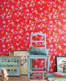 Papel de parede Benina vermelho