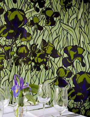 Papel pintado Iris verde oliva claro Ver habitación