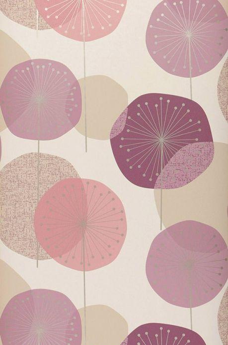 Archiv Papel de parede Muriel violeta bordeaux pálido Largura do rolo
