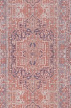 Wallpaper Elvas Matt Old tapestry Beige red Pale red Grey white Violet blue