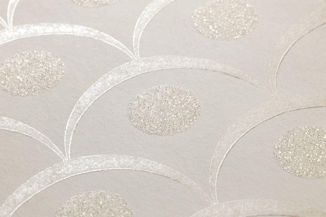Archiv Papier peint Merkur blanc crème Vue détail