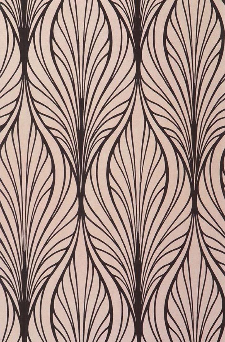 papier peint pemba dor mat brun noir papier peint des ann es 70. Black Bedroom Furniture Sets. Home Design Ideas
