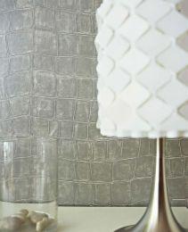 Papel de parede Croco 08 cinza prateado
