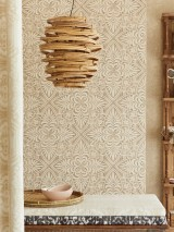 Wallpaper Ragusan Matt Floral damask Grey beige Light ivory