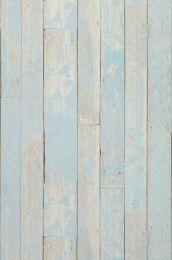 Papel pintado Country Wood turquesa pastel