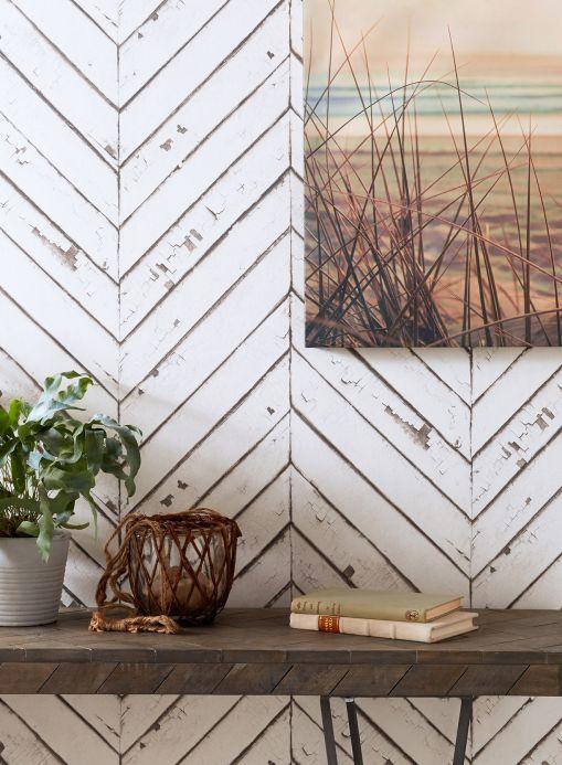 Archiv Papel pintado Primavera blanco crema Ver habitación