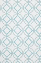Wallpaper Larmuss Matt Circles Squares White Pale green Mint turquoise