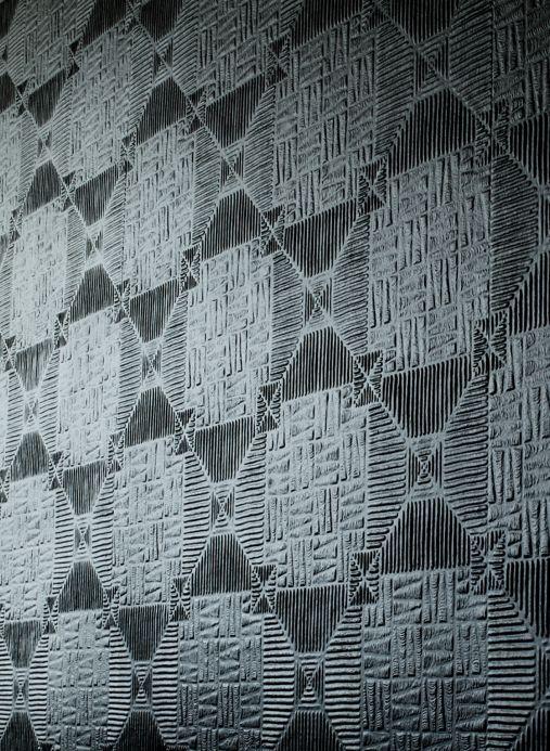 Papier peint shabby chic Papier peint Inca blanc Vue pièce