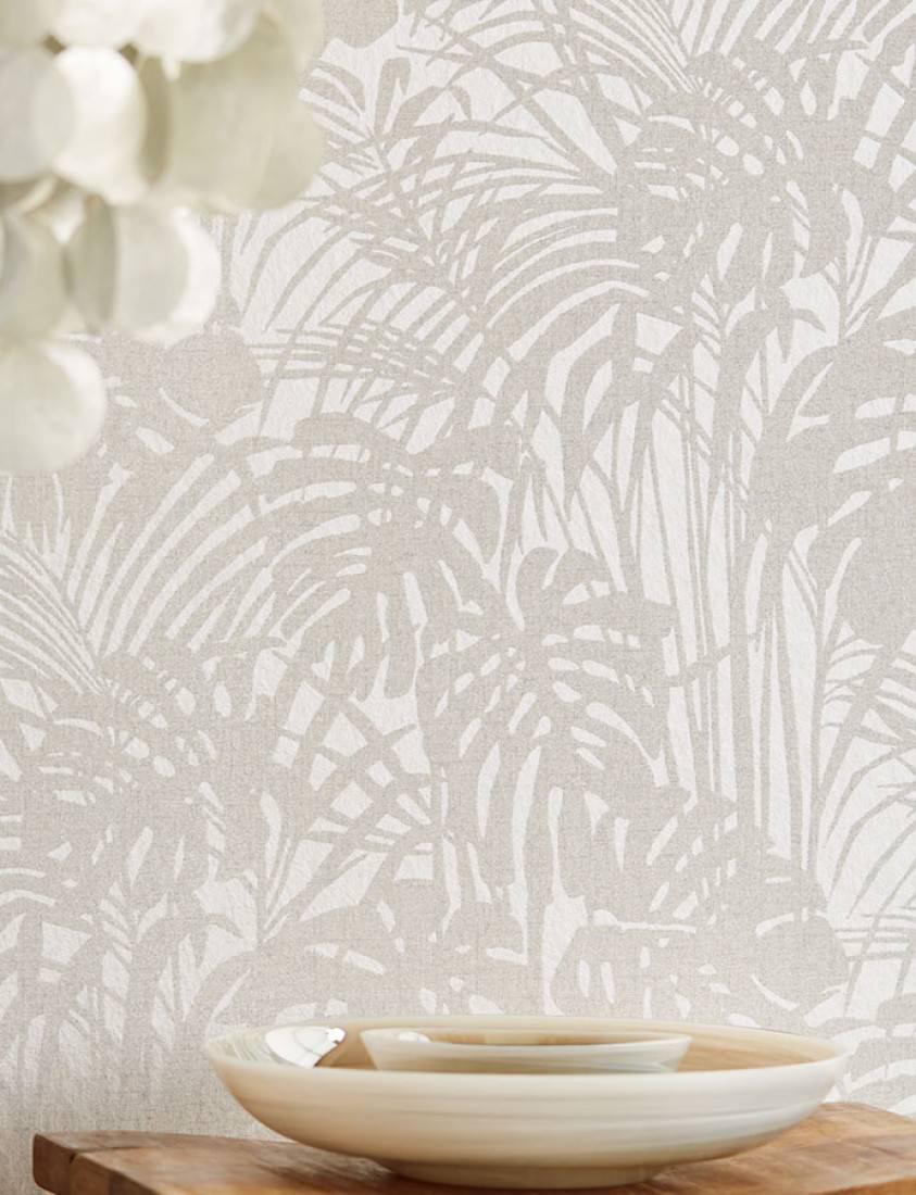 Papel pintado persephone blanco gris ceo gris plateado - Papel pintado plateado ...