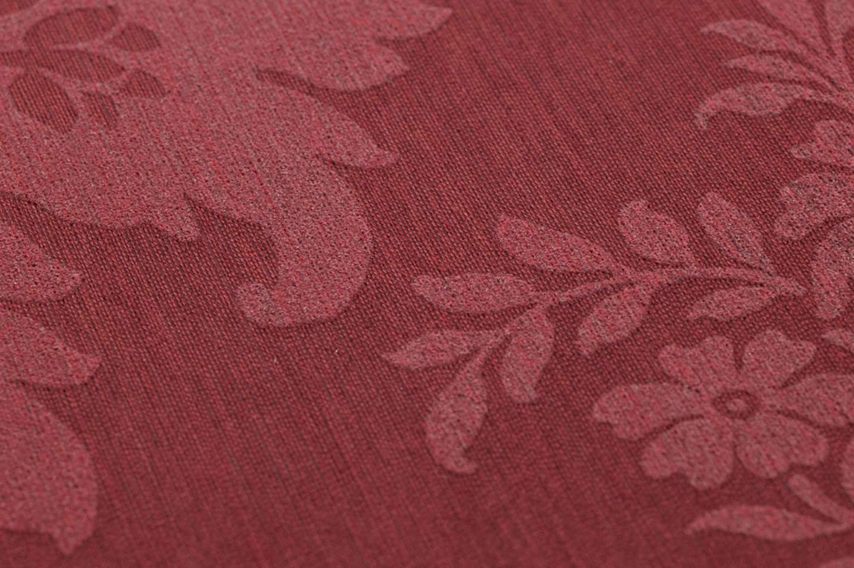 Tapete odilia weinrot ros tapeten der 70er for Tapete weinrot