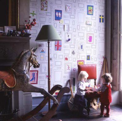 Wallpaper Frames white Room View