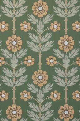 Papel de parede Magdalena verde pinho Detalhe A4