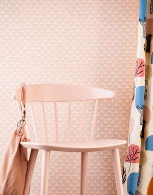 Papel pintado Darja rosa pastel Ver habitación