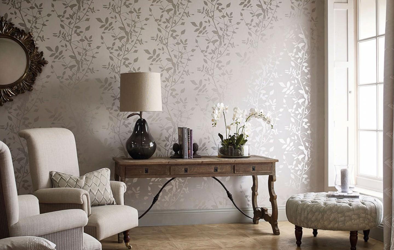 tapete glorette grauweiss silber tapeten der 70er. Black Bedroom Furniture Sets. Home Design Ideas
