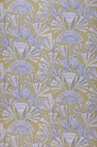 Wallpaper Tiberia Matt Stylised blossoms Olive yellow Light pink Pastel violet