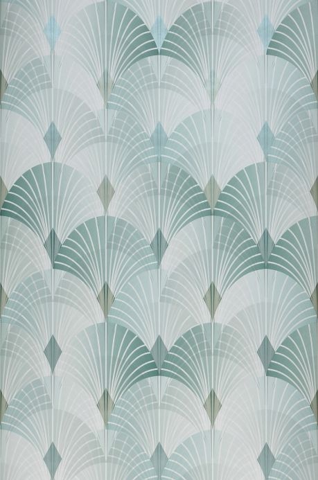 Glamorous wallpaper Wallpaper Sabia mint turquoise Roll Width
