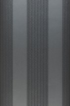 Wallpaper Mendrik Shimmering pattern Matt base surface Stripes Dark grey Anthracite grey glitter