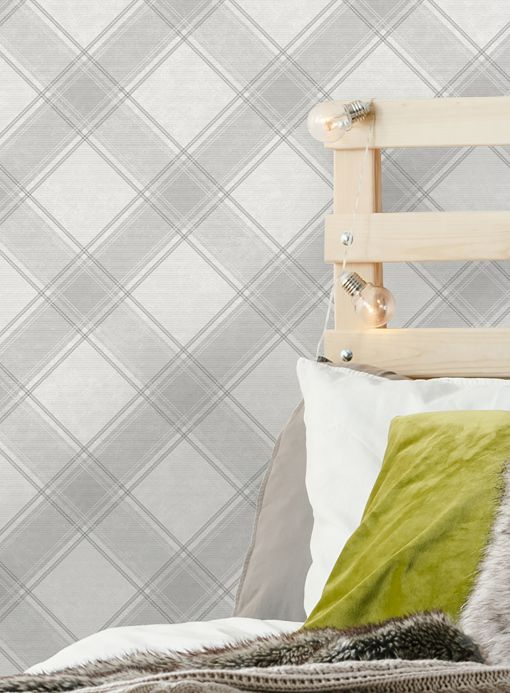 Geometric Wallpaper Wallpaper Redon grey tones Room View
