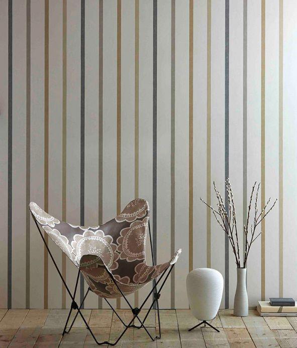 Bauhaus Wallpaper Wallpaper Sabira grey beige Room View