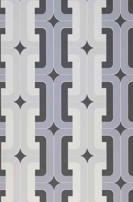 Wallpaper Dakota Matt Graphic elements Retro design Dark grey Grey Grey white Light grey White