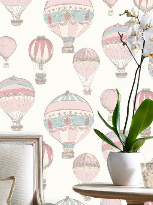 Romantic wallpaper Wallpaper Zefanas rose Room View