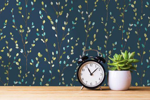 Papel de parede Jolivel azul escuro Ver quarto