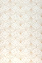 Wallpaper Opera Matt Art Deco Graphic elements Cream Beige