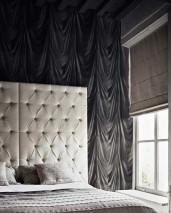 Papel pintado Vogue Brillante Efecto textil Tapicería Blanco grisáceo Gris negruzco