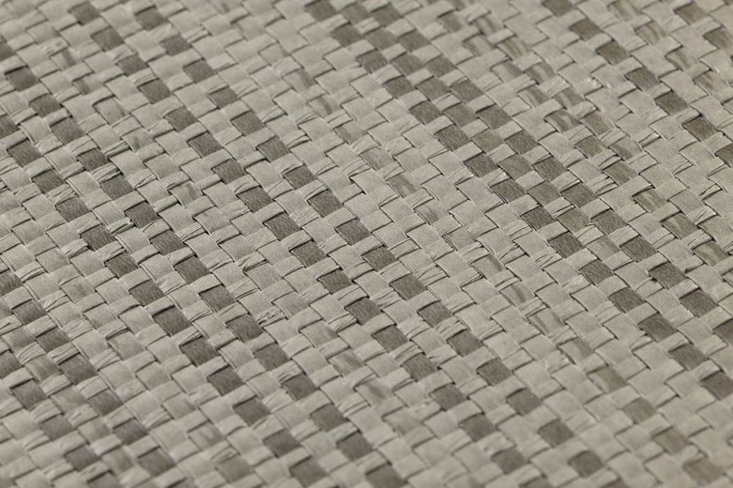 Papier peint Paper Weave 01 Mat Unicolore Gris quartz Gris ombre