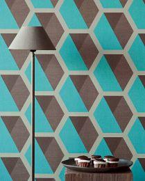 Wallpaper Hirolanit turquoise glitter