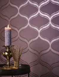 Wallpaper Hulda rosewood