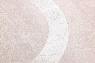 Papel de parede Florin Mate Elementos geométricos Padrões redondos Branco creme Cinza bege claro Cinza claro