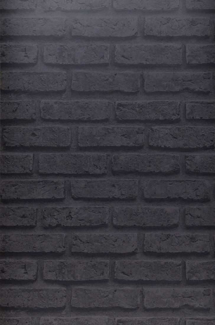 Papier Peint City Brick Gris Fonce Gris Noir Papier Peint Des