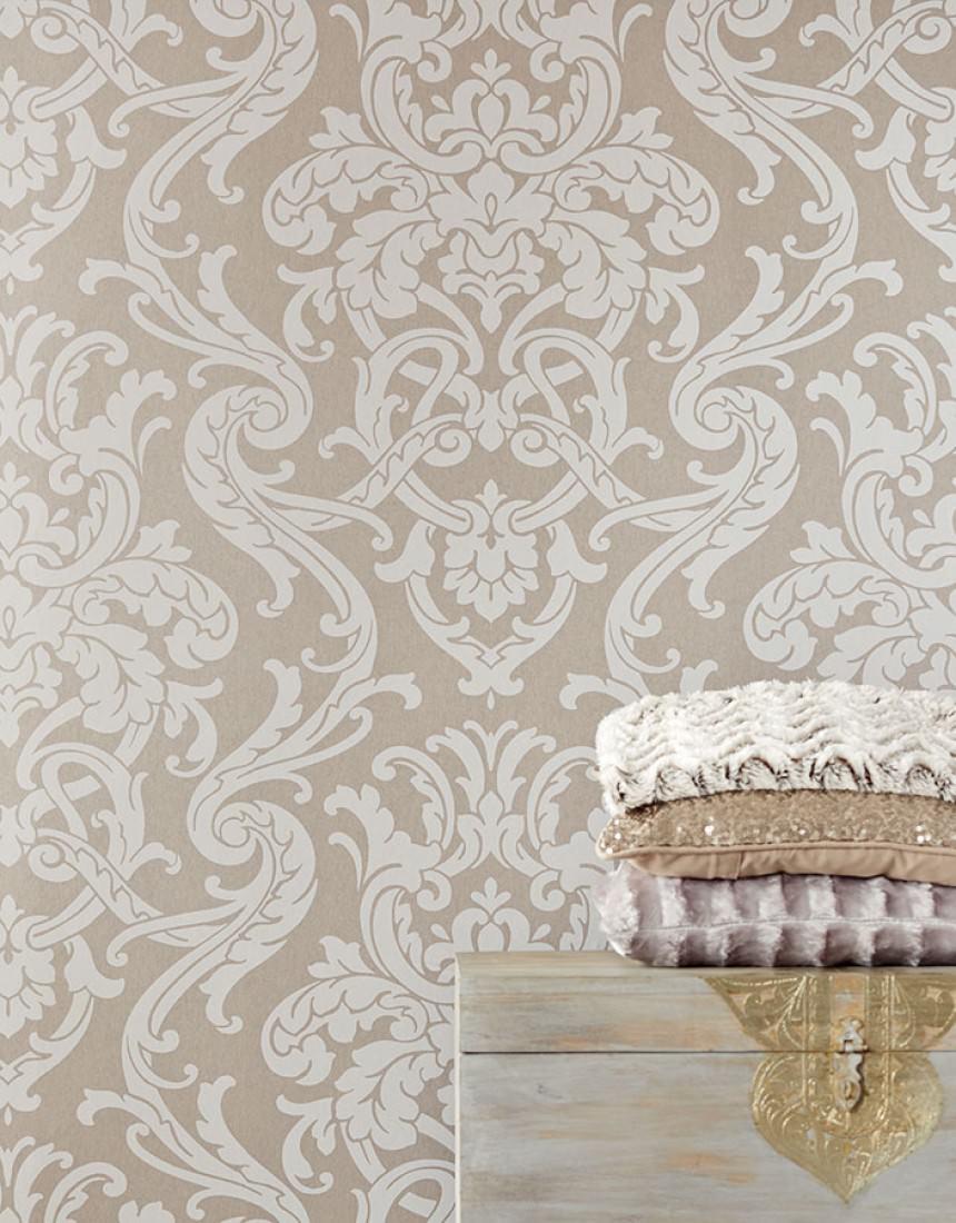 tapete maradila hellgraubeige grauweiss tapeten der 70er. Black Bedroom Furniture Sets. Home Design Ideas