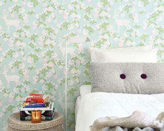 Wallpaper Apple Garden fern green