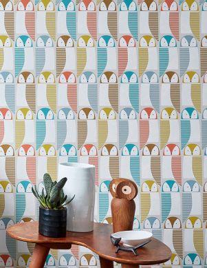 Papel de parede Eledra azul turquesa Ver quarto