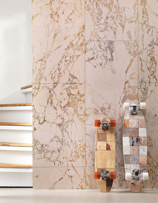 Stone Wallpaper Wallpaper Marble 06 ochre brown Room View