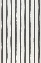 Wallpaper Kati Matt Stripes Cream Black grey