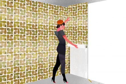 How to wallpaper in corners
