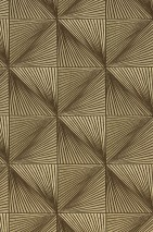 Wallpaper Tillas Shimmering Graphic elements Pearl gold Sepia brown