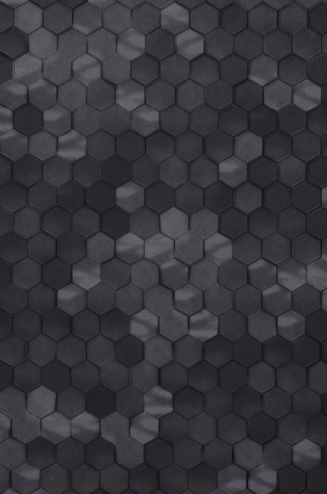Wallpaper Kaydo Matt Hexagons Grey tones Black