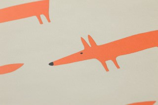 Papier peint Kids Foxes Mat Renards Beige gris clair Orange rouge Blanc